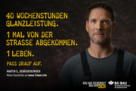 Sicherheit am Arbeitsplatz: BG Bau startet Kampagne